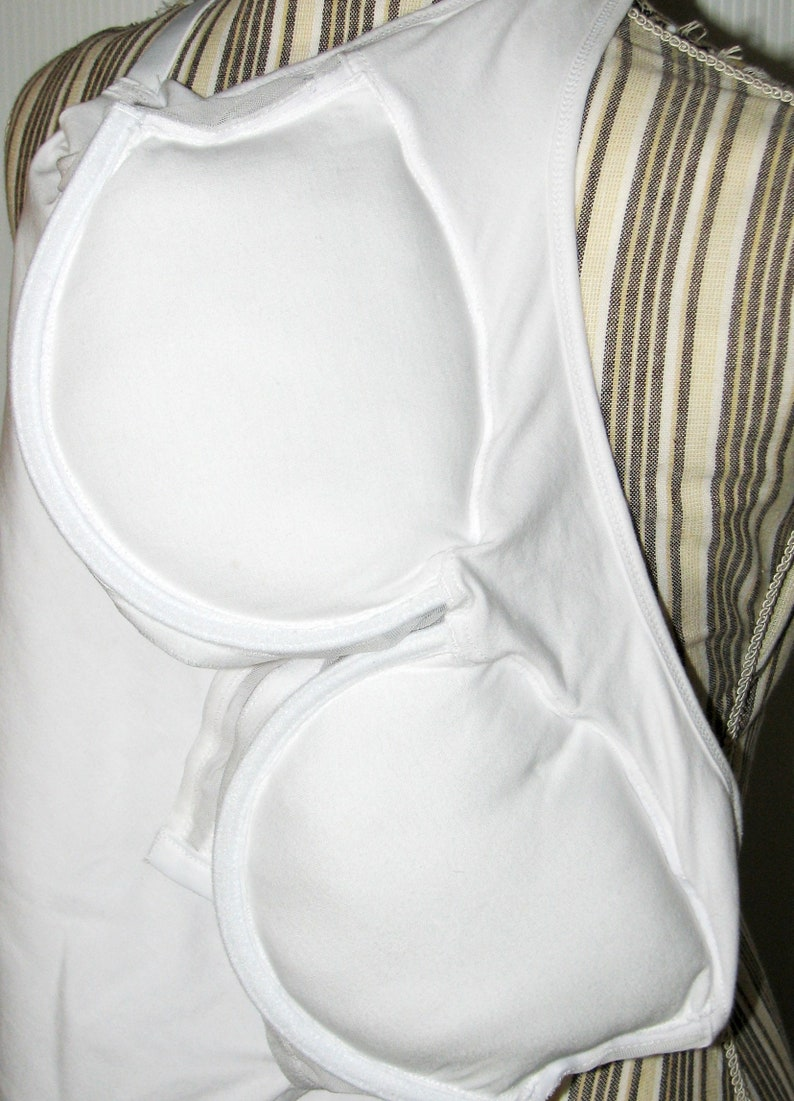 Fully Stuffed Padded Cups Cotton Mastectomy Camisole
