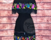 Mexican Fiesta Dress - Embroidered Dress- All sizes