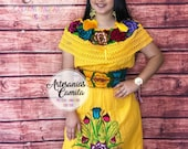 Small- Median Mexican Fiesta Dresses - Includes belt - Embroidery Coco Fiesta Theme