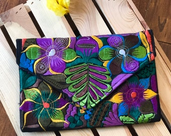 f09fa30d31 Mexican Embroidered Clutch  Crossbody Fiesta Cluth- Different Colors