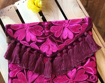 6c4d507c01 Mexican Embroidered Clutch  Crossbody Fiesta Cluth
