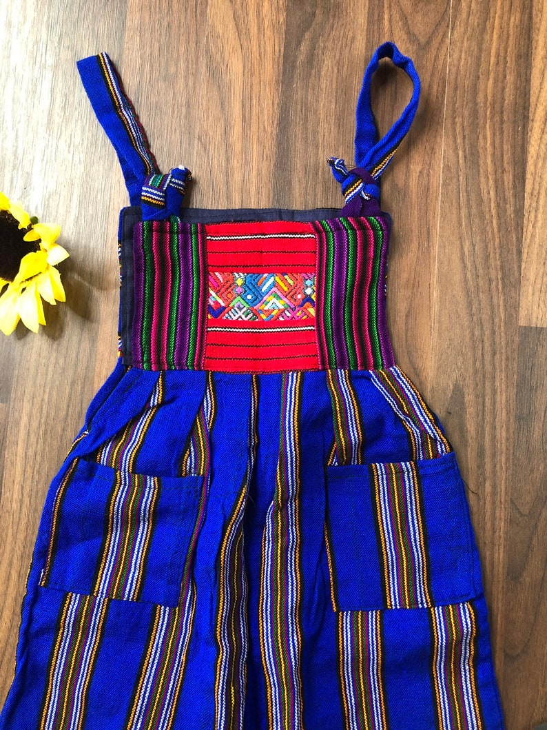 4t Girls Dress Colorful Boho Mexican overall