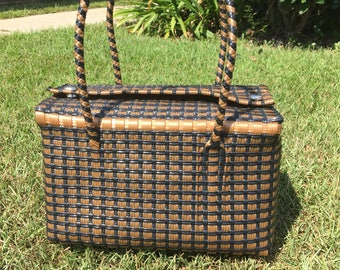 Mexican handwoven black/brown bag