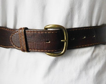 37609419 Wrangler Drum Stained cow hide leather belt/distressed leather/brown/size 30