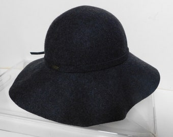 959c8d02cfc52 Scala Collections women s wool dark gray felt hat 100% wool hand crafted size  23
