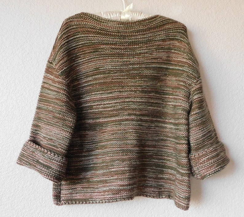 361f4b9ded2 Vintage GAP women's pullover sweater/green beige brown/3/4 sleeve/thick  knit/size XS