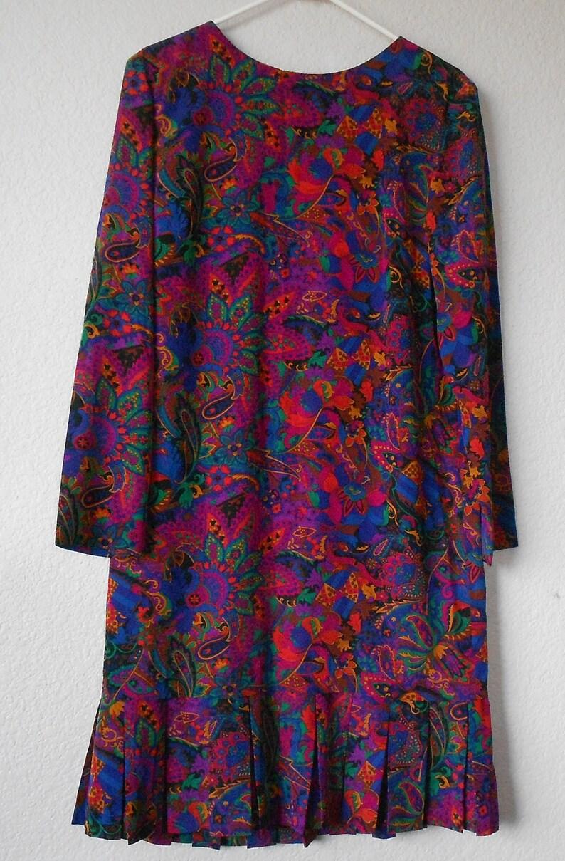 aeda86409b4f Liz Claiborne women s flapper pleat dress paisley pattern