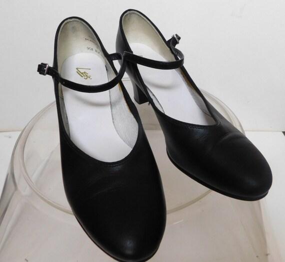 Leo's Mary Jane leather shoes/ Mary Jane black lea