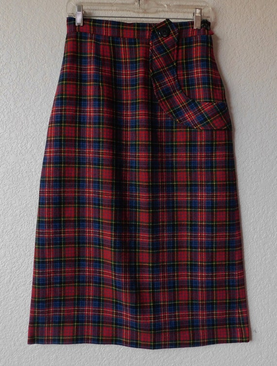 Vintage Miss Preview 1950 women's wool skirt/ wome