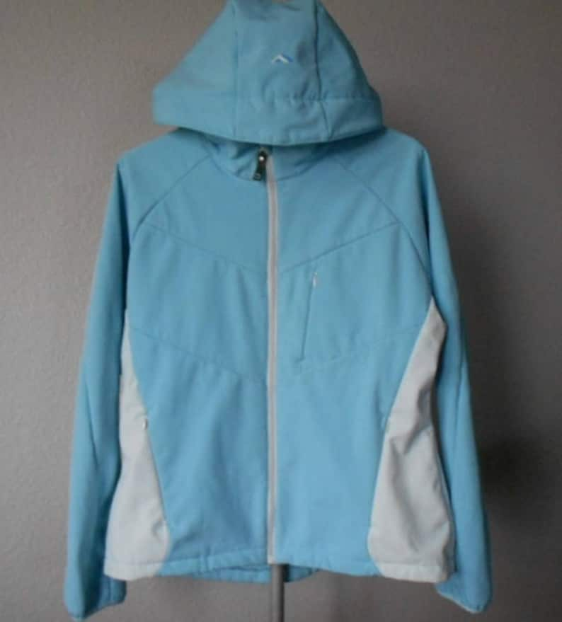 b2fbe6dcf The North Face DENALI women's hoodie/North Face women's winter jacket with  hood light blue/Women's winter jacket with hood/size XL