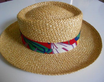"""Dobbs Fifth Avenue New York  men's straw weave hat size Large 7 1/4"""" - 7 3/8"""""""