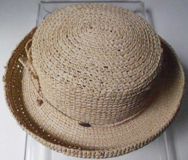 6c52c640 The Scala Collection women's straw hat Raffia twisted | Etsy