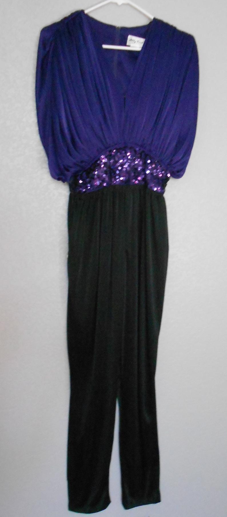 70c9c709e07b2d Abbey Kent Edwardian pants dress purple top black pants see