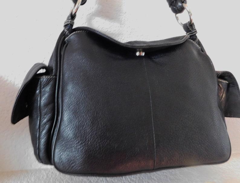 6b91a075fd Lauren Ralph Lauren women's black pebble leather hand bag/shoulder bag/size  L