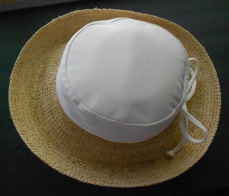 c294b0eb15146 Scala vintage women s hat natural fiber and cotton bow one