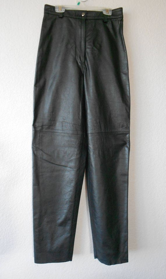 OTERO leather pants for women/Genuine leather pant