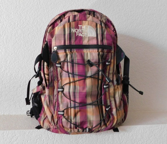 The North Face Borealis plaid backpack/hiking back