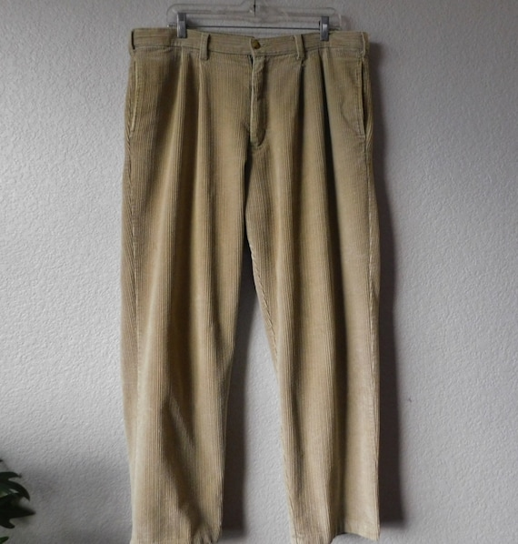 Generra men's corduroy pants/cotton cream beige pl