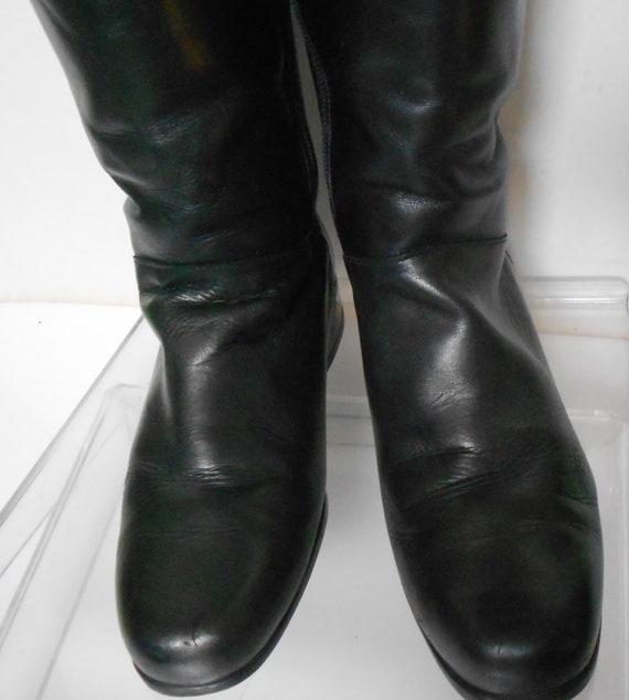 bottes cuir souple ondulé