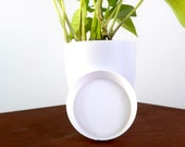 White Saucer Sets - For Pots, Planters, 3D Printed 4 quot , 5 quot , 6 quot , 8 quot , 10 quot Single Saucers