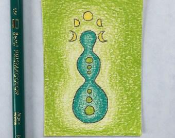 Original Art Card - Turquoise Goddess