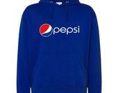 New Pepsi Logo Printed Hoodie Unisex Pullover Kangaroo Sweater