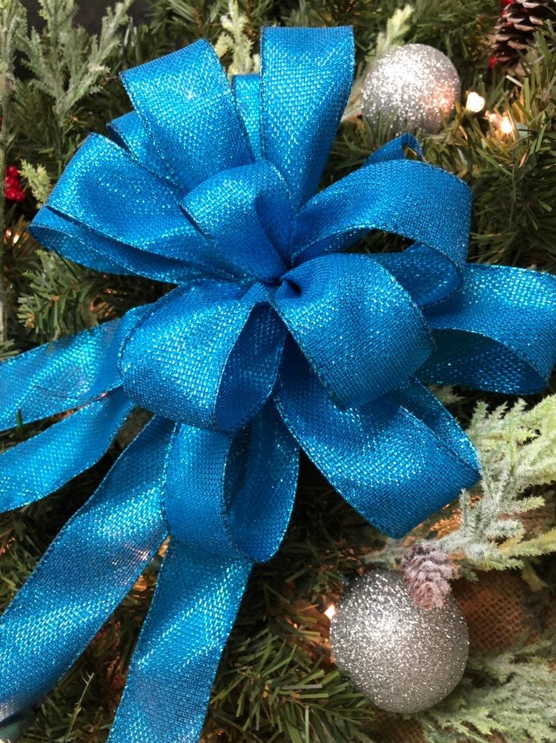 Blue Christmas bows  blue Christmas decor Blue Christmas wreath bows Blue wreath supplies Blue Christmas decorations