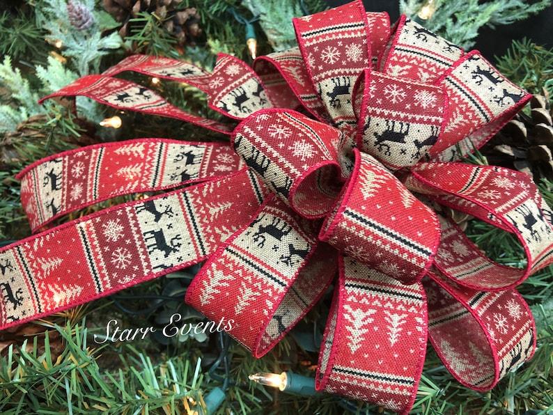 Rustic Christmas decorations Christmas decor Snowflake Christmas bow Primitive Christmas bows Rustic Deer bows Rustic Christmas Wreath bow