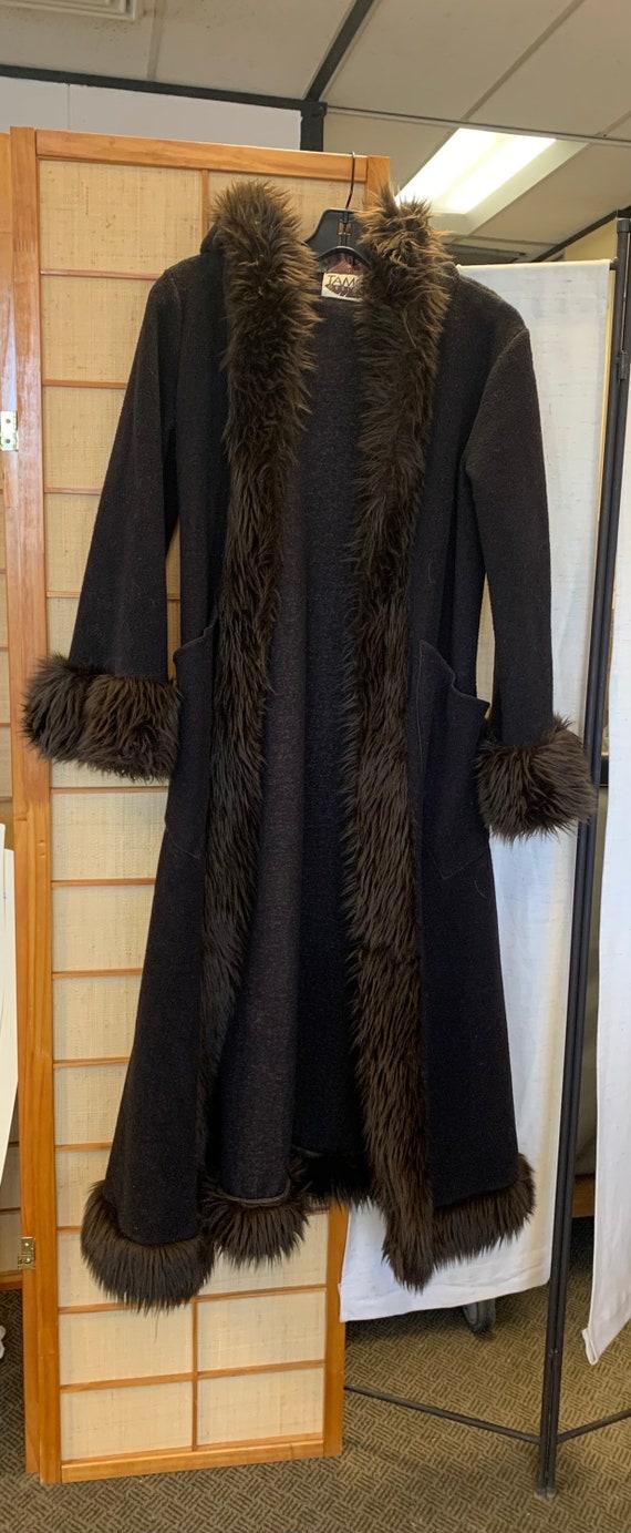 Tamo Design faux fur collar coat
