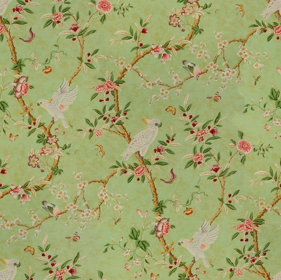 WALLPAPER Brunschwig Fils Kanchou Green By The Roll