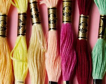 10 DMC Floss Colors - Your Choice