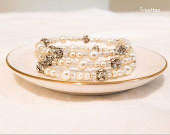 Memory wire bracelet, Handmade bracelet, wrap bracelet