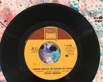 Stevie Wonder 45rpm VG+ Near Mint (Signed Sealed Delievered) Record