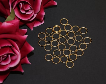 "10 pcs 12mm (1/2"") Gold Metal Rings for Bramaking Bra Strap Camisole Lingerie Making"