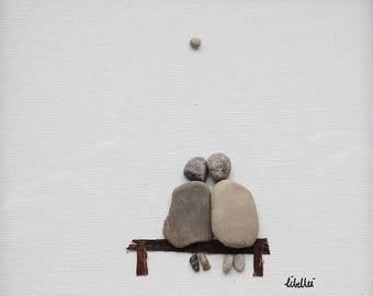 25 x 25 cm Libellei stone art Togetherness