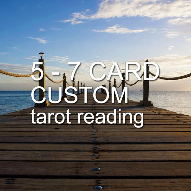 5 to 7 card personalized tarot reading | specific tarot reading | life path  tarot reading | tarot gift | custom tarot reading