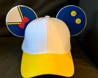 e0355865289 Handmade Donald Duck inspired Mouse Ears Baseball Cap