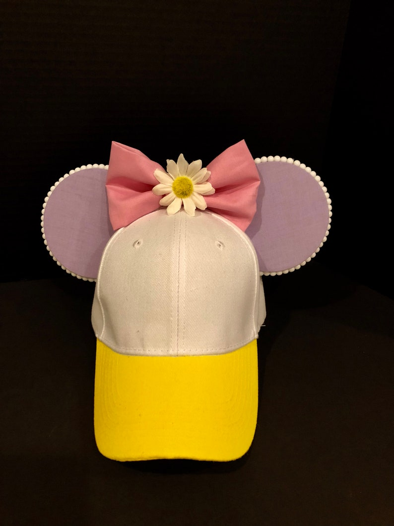8764c49ff0c Handmade Daisy Duck inspired Mouse Ears Baseball Cap