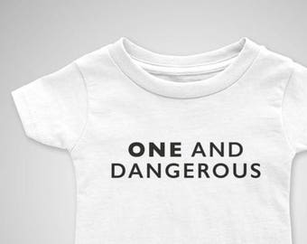 One and Dangerous - 1st Birthday T-Shirt - 1st Birthday Outfit - Birthday Shirt - One Birthday T-Shirt - First Birthday Shirt - Birthday Tee