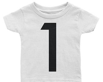 One Birthday T-Shirt - 1st Birthday Shirt - 1st Birthday Outfit - 2nd Birthday Outfit - 3rd Birthday Outfit - Any Numbers Birthday Kids Tee