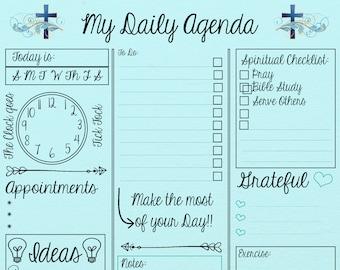 My Daily Agenda - Digital Print 8x10