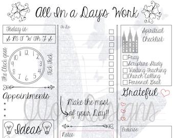 Day Planner - Digital Print 8x10