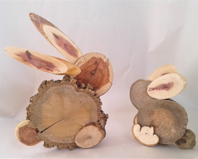 Diy Wooden Bunny Craft Kits Free Us Shipping Create Your Own Natural And Rustic Easter Decorations