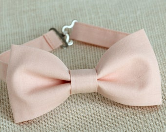 c911055d42d2 Blush Pink Bow Tie, Boys Bow Ties, Men's Bow tie, blush pink wedding  accessory, light pink bow tie, ring bearer bow tie, grooms bow tie