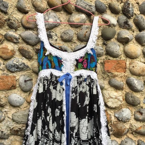 Vintage 70s Jean Varon floral boho maxi dress