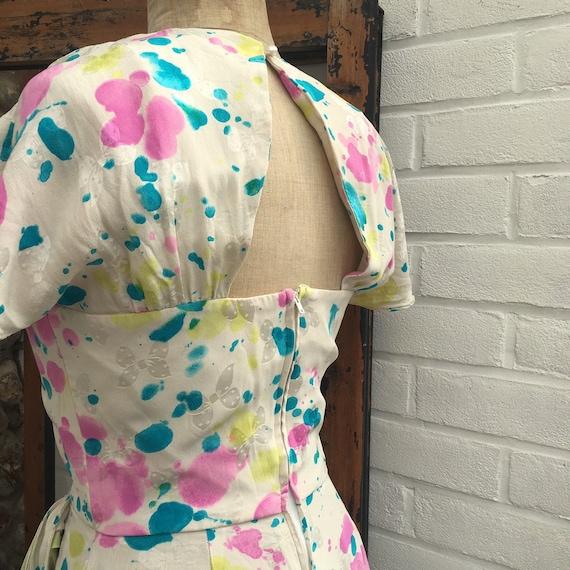Vintage novelty print silk dress - image 6