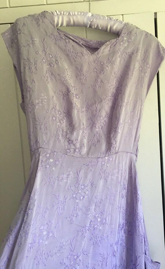 Vintage lilac embroidered dress