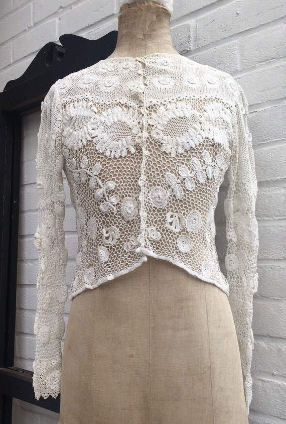Vintage crochet top small