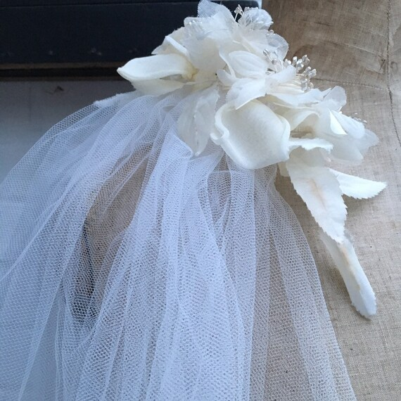 Vintage 50s wedding veil - image 2