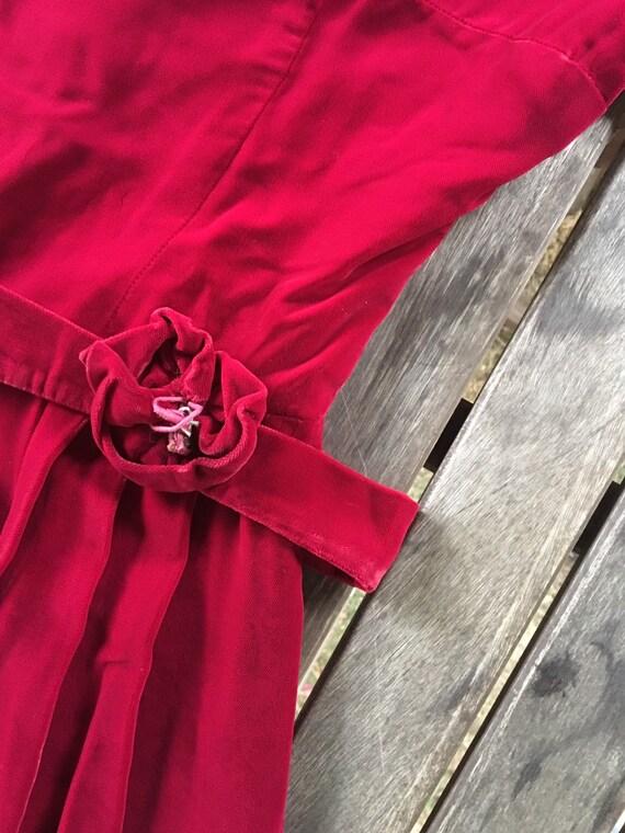 Vintage 40s/50s velvet dress S - image 7